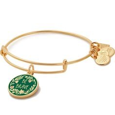 This charm bangle bracelet reminds you to be brave and awaken the champion in you. ALEX AND ANI will donate 20% of the purchase price to Special Olympics.