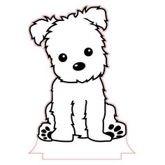 dog training,teach your dog,dog learning,dog tips,dog hacks Animals Black And White, White Dogs, Stickers Kawaii, Puppy Drawing, Dog Vector, Vector File, Easiest Dogs To Train, Fluffy Dogs, Dog Hacks