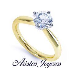 Hermoso anillo solitario de diamante 0.50ct oro 14kl .. #Compromiso #Anillo #Elegencia #Amor