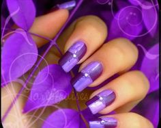 Perfect Purple~ from 27 Nail Art Ideas And Nail Designs Loading. Perfect Purple~ from 27 Nail Art Ideas And Nail Designs Nail Art Violet, Purple Nail Art, Purple Nail Designs, Best Nail Art Designs, Purple Manicure, Colorful Nails, Ombre Nail, Fancy Nails, Love Nails
