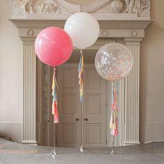 Pastel Rainbow Tassel Tail Giant Balloon