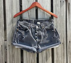 Vintage LEVI 501 Button Fly Jean Shorts  HIGH by TomieHarlene, $17.50