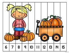 Numbers 1-20: Fall Number Puzzles Ordering Numbers, Number Puzzles, Student Work, Math Centers, Bowser, Ms, Thanksgiving, Teaching, Fall
