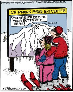 Close to Home by John McPherson for January 2020 - GoComics Close To Home, Chipmunks, Comic Strips, January, Cartoons, Humor, Comics, Funny, Cartoon