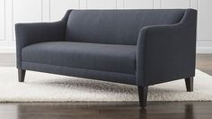 Margot Sofa | Crate and Barrel -- Found this comfortable. Would probably benefit some pillows.