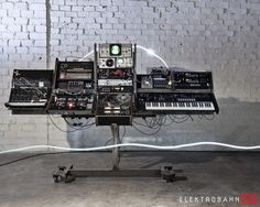 Incredible music production setup, synthesizers, synths, drum machines, analog