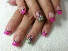 Uñas Pink Nails, Nail Designs, Nail Art, Beauty, Cornrows, Maquiagem, Nail Desings, Beleza, Pink Nail