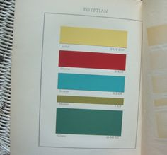 Historical Color Guide, published in 1938 by Elizabeth Burris-Meyer, Vintage Colour Palette, Vintage Colors, Colour Board, Color Inspiration, Color Schemes, Color Palettes, Colours, Living Room, House