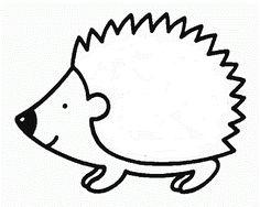 Resultado de imagem para ouriço para pintar