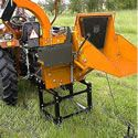 "Liberty Professional 8"" (540 RPM) PTO Chipper. As a pro, you'll be handling larger volumes of debris more frequently, so this unit comes with an automatic feed roller system. That means you don't have to stand around and feed the branches in one at a time; the grapple teeth and rollers draw the branches into the chipper while you're getting the next batch ready."