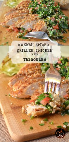 Dukkah Spiced Grilled Chicken with Tabbouleh | The Flavor Bender