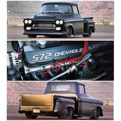 Matte black 572 Chevy... this ain't no farm truck fuckin sweet