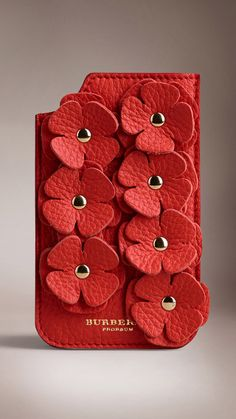 IPHONE 5/5S CASE IN DEERSKIN WITH FLOWERS