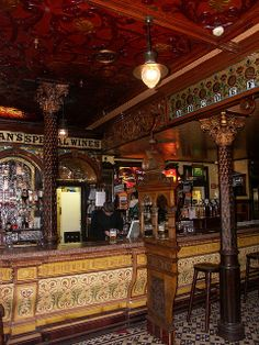 Crown Liquor Saloon, Belfast, Northern Ireland. I went three times while I was in Belfast for the week, and I would love to return!