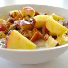 Chia Seed Porridge, Carameled Apples & Cinnamon