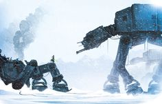 Jedi in a Snowstorm Created by Justin Currie