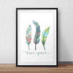 BUY 1 GET 1 FREE* Free Spirit feather *Digital Printable 5x7, 8x10