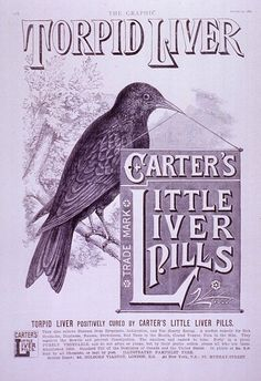 Carter's Little Liver Pills, from The Graphic, 23 August 1890.