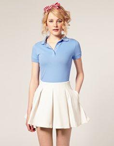 School uniforms on pinterest cute school uniforms for Cute polo shirts for women