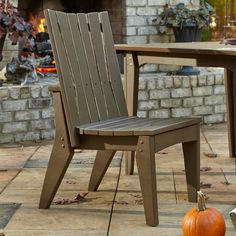 Outdoor Uwharrie Hourglass Armless Patio Dining Chair - H096-042W