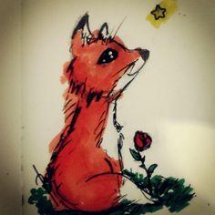 #quicksketch #sketchbook #sketch #doodle #fox #redfox #redrose #cute #love #illustration #inspiration #raposinha #raposa #roselices 30.09.2014