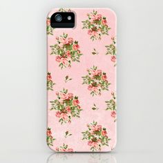 Pink Vintage Roses iPhone & iPod Case by Zen and Chic - $35.00