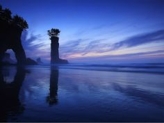 Beautiful Sky, Beautiful World, Beautiful Places, Amazing Places, Night Photos, Photos Du, Blue Sunset, Orange Sky, Blue Bodies