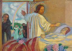 Maurice Denis (1870-1943) La Résurrection de la fille de Jaïre, 1921  Huile sur toile - 75 x 104 cm Vente Drouot, 12 février 2014