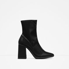 HIGH HEEL SOCK STYLE ANKLE BOOT