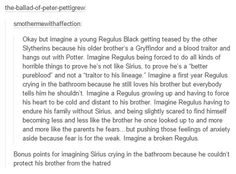 Sirius and Regulus Black. right in the feels. excuses me while i go ugly cry in the corner.....