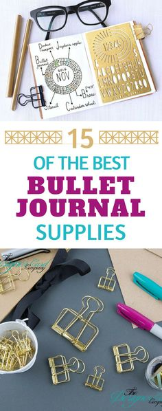 The Best Bullet Journal Supplies - from journals and pens to stencils and stickers - everything you need to take your BuJo to the next level! #bujo #bulletjournal #planner