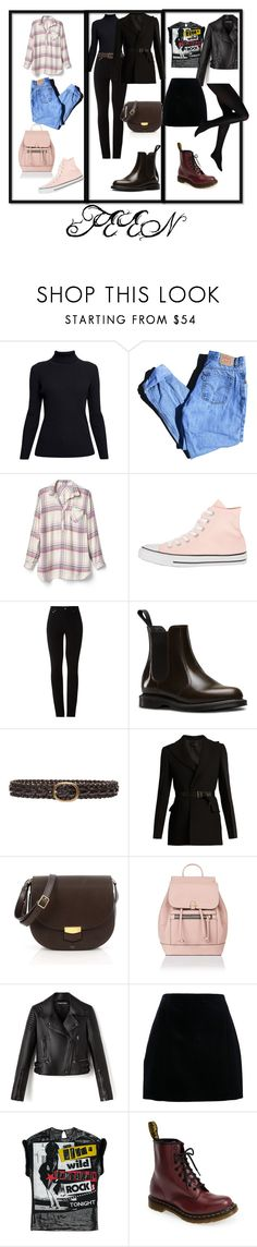"""""""teen outfits"""" by gunterpiggy ❤ liked on Polyvore featuring Rumour London, Levi's, Gap, Converse, Amapô, Dr. Martens, Lovers + Friends, Calvin Klein Collection, CÉLINE and Accessorize"""