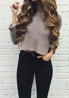Teenager style crop sweater
