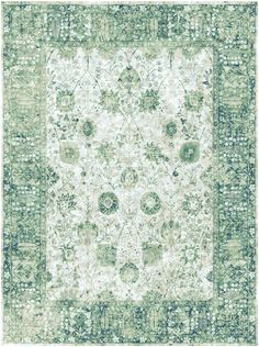 The transitional Kerman blue green rugs from the luxurious Antiqua Reserve…
