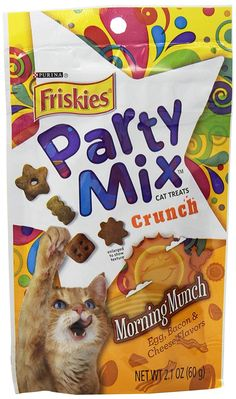Purina Friskies Party Mix Crunch Morning Munch Cat Treats -- You can get more details by clicking on the image. (This is an affiliate link and I receive a commission for the sales)