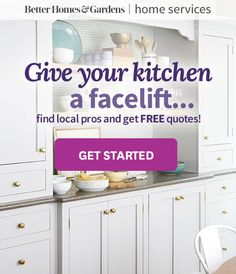 Save thousands of dollars by using paint and new hardware to update your existing kitchen cabinets instead of buying new ones. These colorful, budget-friendly examples will help you get started. Cuisine Home Depot, Home Depot Kitchen, Kitchen Decor, Kitchen Cabinetry, Cabinets, Cabinet Door Designs, Cabinet Makeover, Farmhouse Interior, Better Homes And Gardens
