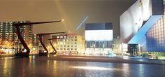 Schouwburgplein Rotterdam by West 8 Urban Design & Landscape Architecture Urban Design Concept, Urban Design Diagram, Urban Design Plan, Roof Structure, Himmelblau, Urban Landscape, Portfolio, Rotterdam, Landscape Architecture