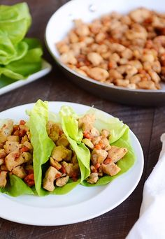 Cashew Chicken Lettuce Wraps Meal} (My Kitchen Cafe) Clean Eating Snacks, Healthy Eating, Cooking Recipes, Healthy Recipes, Meal Recipes, Kitchen Recipes, Healthy Meals, Recipies, Chicken Lettuce Wraps