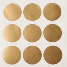 Vinyl Polka Dots (many different colors available, also gold and silver)