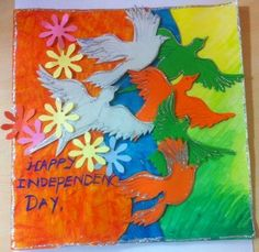 Art ,Craft ideas and bulletin boards for elementary schools: Independence day card Independence Day Theme, Independence Day Activities, Independence Day Decoration, 15 August Independence Day, India Independence, Art N Craft, Craft Work, File Decoration Ideas, Craft Ideas