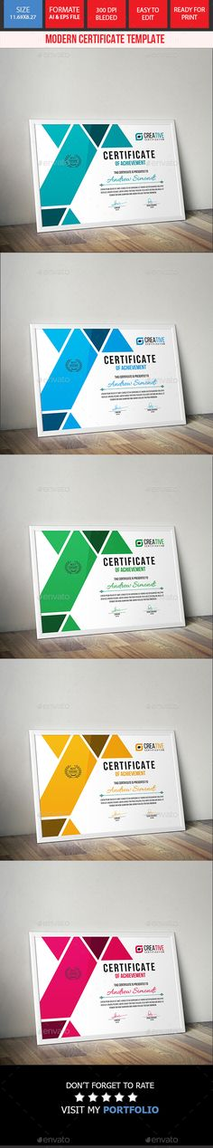 Certificate Template Certificate Design, Certificate Templates, Letter Templates, Card Templates, Design Templates, Certificate Of Appreciation, Illustrator Cs5, Event Poster Design, Award Certificates