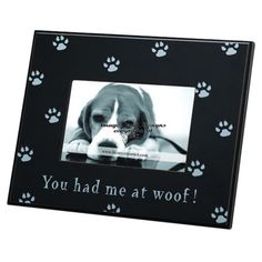 Perfect for highlighting treasured memories of Fido, this timeless wood picture frame showcases a charming paw-print motif and typographic details.   ...