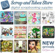 22 Awesome New Scrapbook Products You'll Actually Want! 💚 Look here > http://mailchi.mp/42a773292dc2/05-march 💚 Scrap and Tubes Store ~ digital scrapbooking supplies