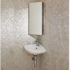 Corner Mirrored Cabinet Bath
