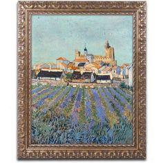 Trademark Fine Art Saintes Marines Canvas Art by Vincent van Gogh, Gold Ornate Frame, Size: 11 x 14