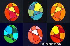 Some Bunny Loves You, Easter Egg Designs, Kandinsky, Art School, Easter Eggs, Geometry, Cube, Stencils, Kindergarten