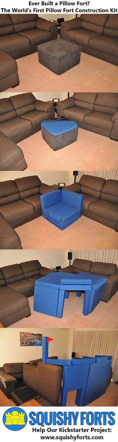 Squishy Forts - the world's first Pillow Fort Construction Kit