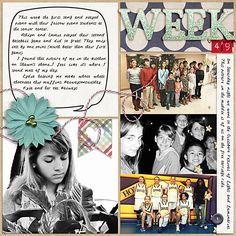 Week 49 {left} Daily Life Templates 13 by Scrapping with Liz Everyday Life December by Juno Designs