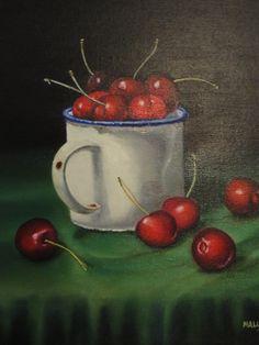 """""""Cerejas"""" - Pintura a óleo sobre tela (Adaptação) (*)"""