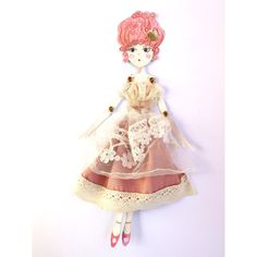 Paper doll Marie Antoinette, pink shabby paper toy for romantic girl,... (88 ILS) ❤ liked on Polyvore featuring paper doll and paper toy